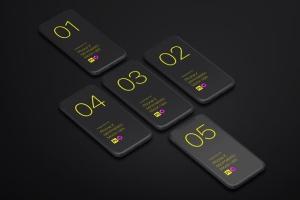 极简主义iPhone X样机模板 Phone X Minimalistic Mock-Ups插图5