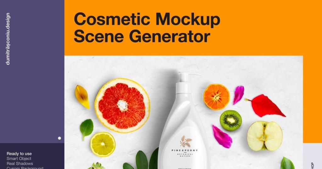 高端化妆品日用品场景样机生成器 Cosmetic Mockup – Scene Generator插图