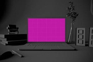 酷黑场景MacBook Pro电脑样机 Dark MacBook Pro插图8