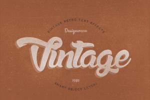 14个复古风格立体特效PS字体样式 14 Vintage Retro Text Effects插图11