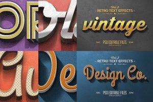 复古文本图层 样机v2 Vintage Text Effects Vol.2插图4