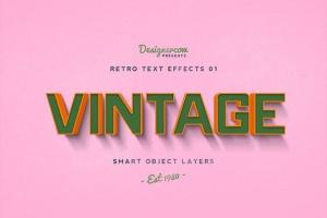 10款复古文本标题3D立体效果PS图层样式 Retro Text Effects V01插图11
