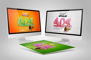 Web设计桌面电脑屏幕演示样机模板 Desktop Mock-Up插图9