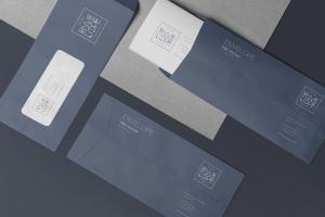 6款企业品牌VI设计展示信封&信纸样机模板 6 Envelope & Letter Mockups插图6