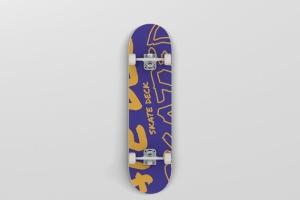 极限运动滑板图案设计样机 Skateboard Mockup插图5