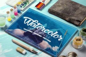 抽象艺术水彩设计套装 Watercolor Design Bundle插图(1)