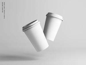 7个咖啡纸杯定制外观设计效果图样机模板 7 Coffee Cup Mockups插图10