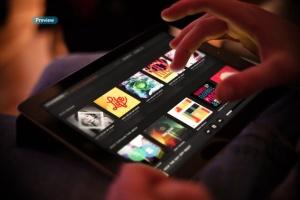 平板APP应用界面设计演示样机模板 Black iPad Tablet App UI Mock-Up插图12
