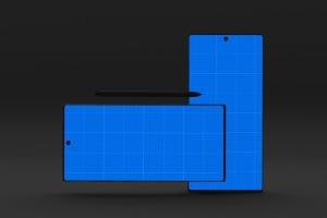 Note 10大屏手机屏幕预览样机模板 Dark Note 10 Mockup插图13