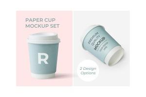 热饮纸杯样机模板 Cup Design Mockup插图1