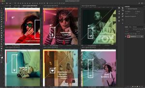 设计媒体创意设计效果图预览等距网格样机模板02 Landscape Perspective Mockup 02插图1