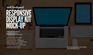 响应式网页设计预览样机套件 Responsive Mock-Up Web Display Kit插图2