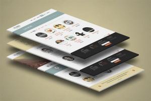 3D立体图网站UI设计效果图样机 3d Website Display Mockup插图5