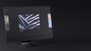 网站UI设计效果图预览黑色iMac电脑样机模板 Dark iMac Mockup插图12