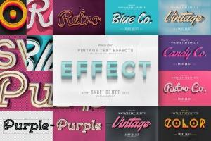 经典复古文本图层样式v4 Vintage Text Effects Vol.4插图1