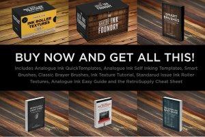 橡胶墨辊印刷效果图层样式 Analog Ink Foundry – PSD Print Kit插图5