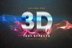 一流设计素材网下午茶:150款3D文字效果的PS图层样式 150 3D Text Effects for Photoshop–2.61 GB插图26