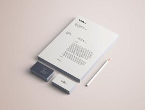 高端品牌VI设计办公用品预览样机PSD模板 Full Branding & Identity Mockup PSD插图5