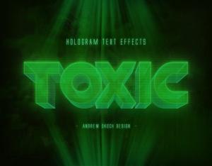 高科技未来科技感全息图效果PS字体样式 Hologram Text Effects插图3
