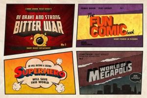 漫威&DC欧美复古漫画插画设计工具包插图(3)