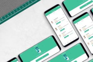 三星智能手机S9应用程序演示设备样机 S9 Mockup插图1