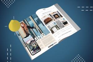 杂志印刷设计/杂志APP设计图预览样机样机 Abstract Magazine App Mouckup插图3