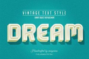 复古条纹风格文本图层样式 Vintage / Retro Text Styles插图8