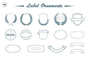 装饰标签矢量图形素材下载 Label Ornaments插图(1)