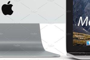 5K高分辨率Apple设备样机合集[白色版本] Apple Mockup products – 1 (white)插图3