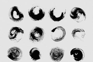 111个非凡令人着迷的PS画笔笔刷 Swirls & Strokes Brushes Set插图6
