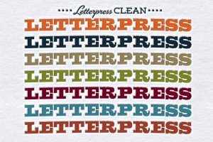 破旧凸版印刷效果照片处理图层样式 Worn Letterpress Photoshop Styles插图4