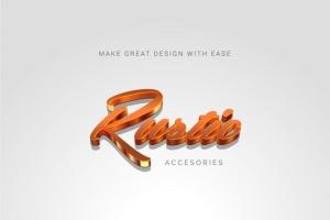 3D金属质感字体特效AI图层样式 Metallic Styles for Illustrator插图7