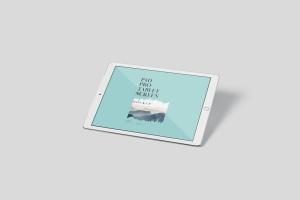 多角度iPad Pro屏幕演示样机PSD模板 Pad Pro Tablet Screen Mockup Set插图6