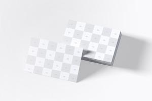 UK标准规格企业名片设计预览图样机模板06 UK Business Cards Mockup 06插图4
