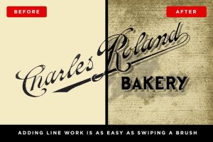 复古压纹印刷效果PS笔刷 IndustryPress – Lines & Textures插图2