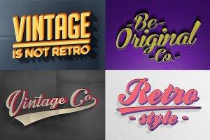 复古风格质感字体文本图层样式合集v3 Vintage Text Effects Vol.3插图3