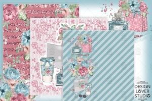 水彩花卉无缝图案设计素材 Boss Girl digital paper pack插图5