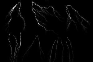 50款雷电闪电光线PS笔刷 50 Lightning Photoshop Brushes插图6