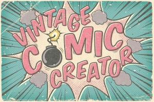 复古连环漫画印刷效果图层样式 Vintage Comic Creator插图1