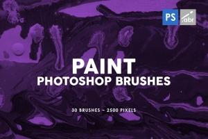 30款油漆手工纸张纹理肌理PS笔刷v3 30 Paint Texture Photoshop Brushes Vol. 3插图1
