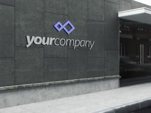 公司建筑Logo标志设计效果图样机模板 Company Building Sign Mockup插图2