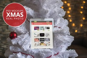 8款圣诞节主题&iPad样机模板 8 Christmas Mac & Ipad Mock-ups插图1