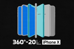 极简主义 iPhone X 样机模板 Minimal iPhone Mockup插图1