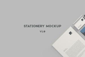 高品质的简约商务办公文具提案VI样机展示模型mockups插图6