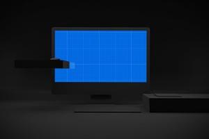 暗黑背景iMac Pro苹果一体机电脑样机模板 Dark iMac Pro插图8