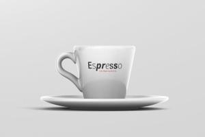 逼真咖啡杯马克杯样机模板 Espresso Cup Mockup – Cone Shape插图5