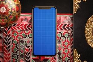 高端奢华场景iPhone X展示样机模板 Arabic iPhone X Mockup插图7