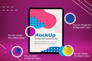 iPad Pro平板电脑UI设计屏幕预览效果图样机 Abstract iPad Pro Mockup插图2