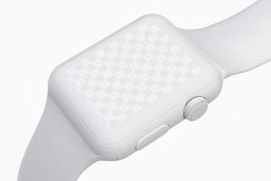 Apple Watch手表表盘UI界面设计效果图样机05 Clay Apple Watch Mockup 05插图3