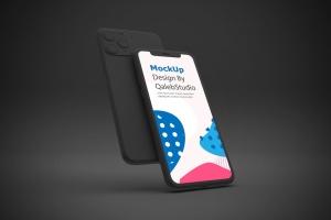 黑色背景iPhone 11智能手机屏幕预览样机 Dark iPhone 11 Mockup插图4